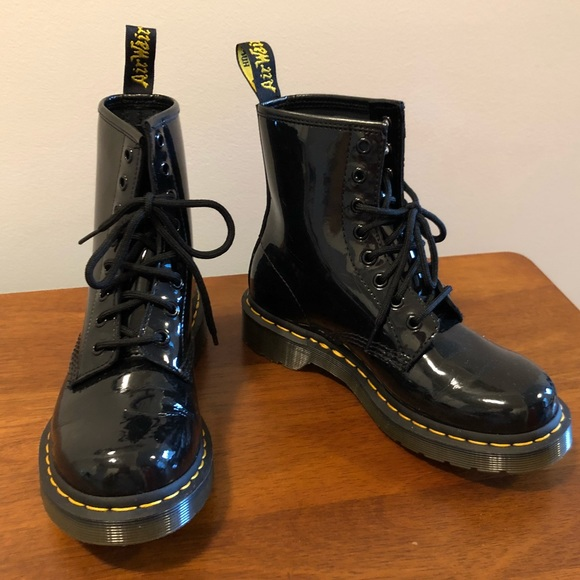 brand new 2e7c1 44ae3 Dr. Martens Shoes - BRAND NEW Dr Martens 1460 Patent 8-Eye Boots sz